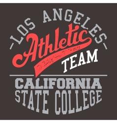 California Athletic Team vector image vector image