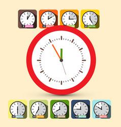 clock set five to twelve vector image vector image