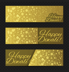 happy diwali background vector image