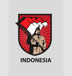 indonesia merdeka vector image