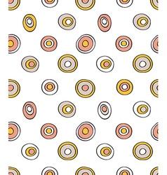 Retro seamless pattern geometric background Polka vector image vector image