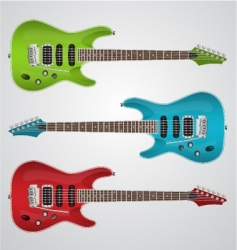 set of electric guitars vector image