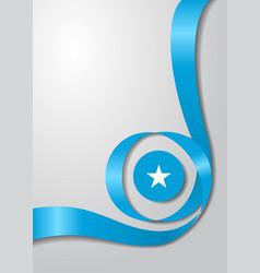 somalian flag wavy background vector image vector image