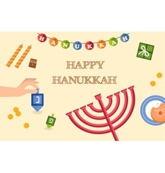 symbols of hanukkah celebration icons set vector image vector image