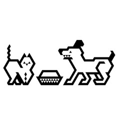 cat and dog vector image vector image