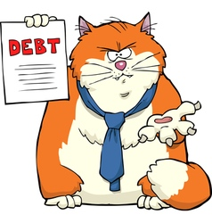 cat needs to repay vector image vector image