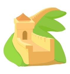 Chinese wall icon cartoon style vector image vector image
