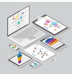 Set of infographics design elements vector image vector image