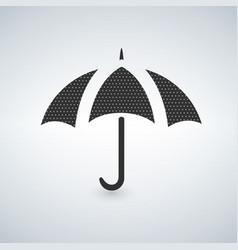 umbrella icon with dots vector image