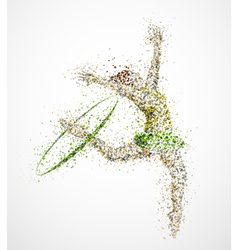 Abstract gymnast2 vector image vector image