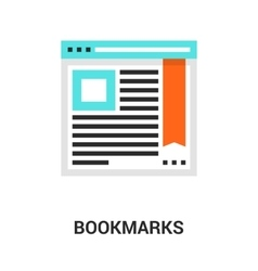 bookmarks icon concept vector image vector image