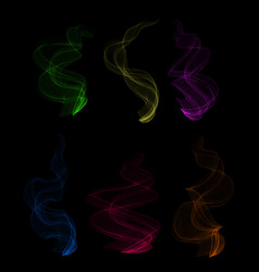 colorful smoke clouds vector image