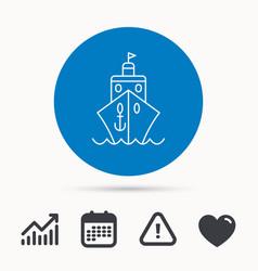 cruise icon ship travel sign vector image