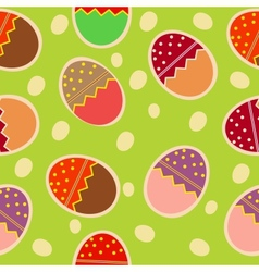 Easter Seamless pattern with eggs background vector image vector image