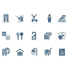 hotel service icons | piccolo vector image vector image