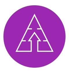 Pyramid with arrow up line icon vector