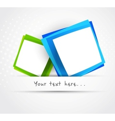 Two squares vector image