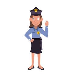 woman police avatar cartoon vector image