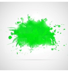Abstract background with green paint splashes vector image vector image