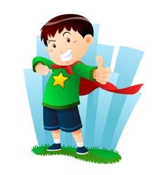 action boy vector image vector image