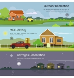 banners - outdoor recreation mail delivery vector image vector image