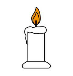 color silhouette image of candle lit vector image
