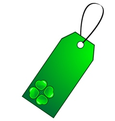 Gift tag Clover vector image