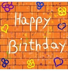 with happy birthday background vector image