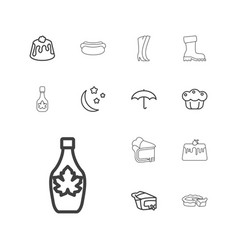 13 seasonal icons vector