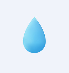 3d water drop isolated pure blue liquid vector