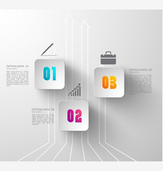 abstract digital business infographics vector image