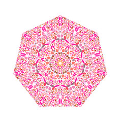 Abstract geometrical colorful floral heptagon vector