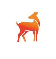 animal wild deer logo sign vector image