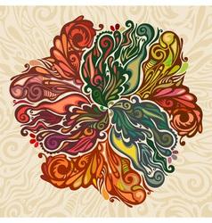 Autumn leaves floral design element vector