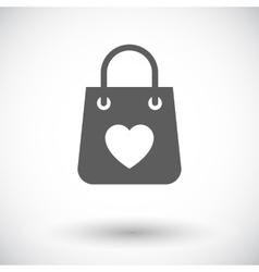 Bag store single icon vector image