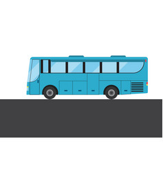 Blue bus picture vector