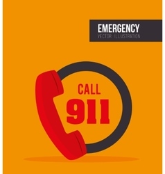 Call center emergency service vector