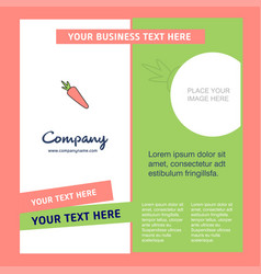 carrot company brochure template busienss template vector image
