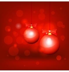 Christmas balls hanging vector image