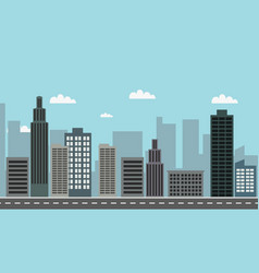 Cityscape with sky background vector