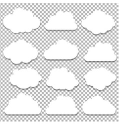clouds big set vector image