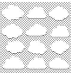 Clouds big set vector