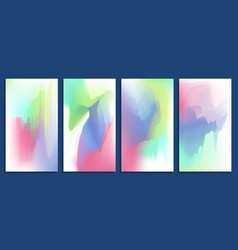 Colorful abstract vibrant blurred holographic vector