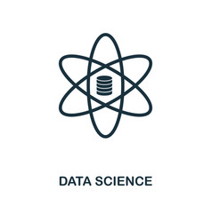 data science icon monochrome style design from vector image