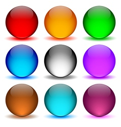 Different colors icons ball vector