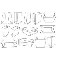 different paper bags vector image