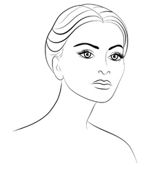 Drawing of a woman vector