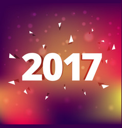 elegant 2017 text style effect on colorful vector image