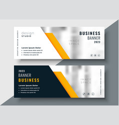 Elegant yellow professional business banner vector