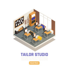 Fashion atelier isometric composition vector